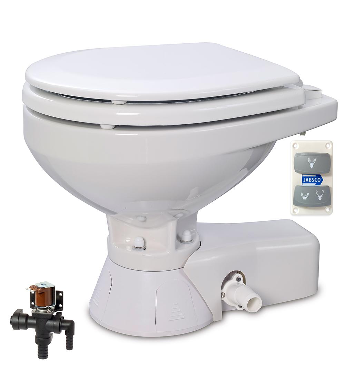 Jabsco 37045 3094 Quiet Flush Electric Toilet Fresh